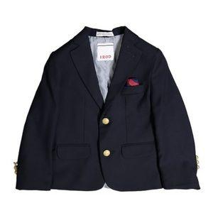 Izod Boy's Navy Blue Suit Jacket Blazer   Size 4